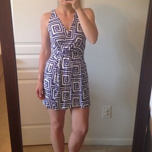 DVF OBLIXE WRAP DRESS NWOT