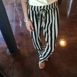 Pants - Silky striped pants