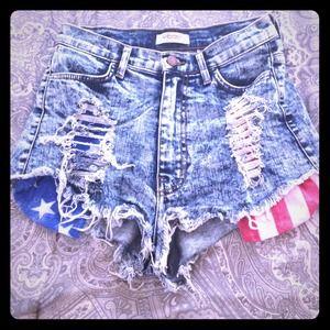 Denim - 🇺🇸 Denim cut off jeans (acid washed)
