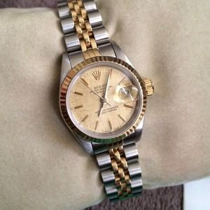Two toned Rolex watch
