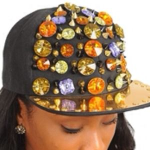 Accessories - Studs and Stones Fashion Cap