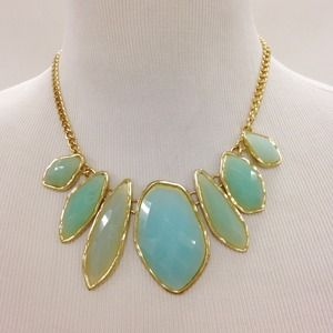 Sea Green Stone Necklace