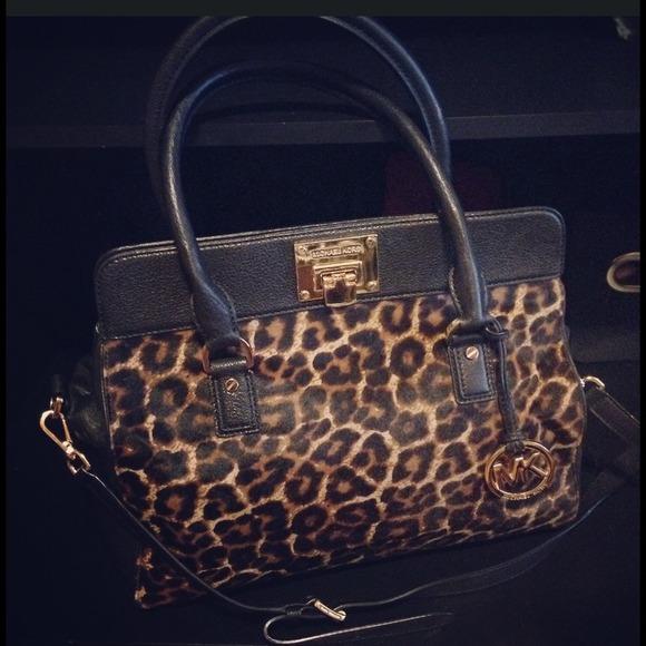 a3cf9f3a19a2ae Michael Kors leopard print ASTRID large satchel. M_53593e7188e3c6493a0618e4