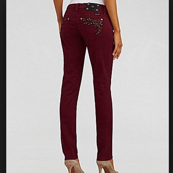 Maroon miss me skinny jeans