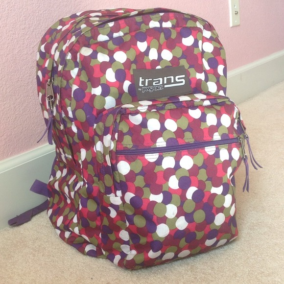 62% off jansport Other - Trans by Jansport backpack colorful ...