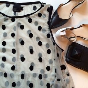 FOR KAREN! Asos Polka Dot Top