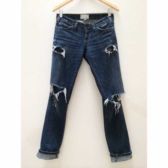 Current/Elliott Denim - Current Elliott The Skinny in Love Destroyed