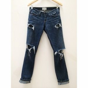 Current/Elliott Jeans - Current Elliott The Skinny in Love Destroyed 1