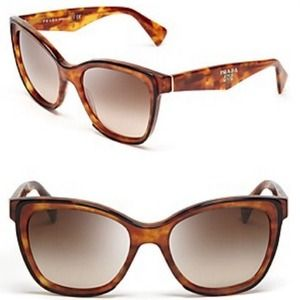 Prada Cateye Two Tone Havana Sunglasses