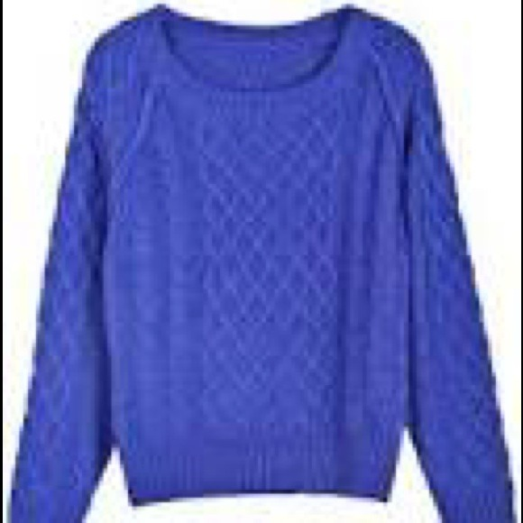 40% off Old Navy Sweaters - Royal blue cable knit sweater from ...