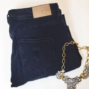 H&M Pants - Distressed Faded Black Skinny Jeans