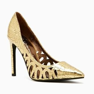 Jeffrey Campbell Shoes - Jeffrey Campbell Gold Amaro Pump