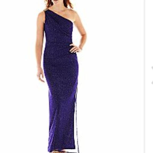 ead94c97825f DJ-JAZ Dresses   Skirts - One-Shoulder Purple Formal Prom Dress