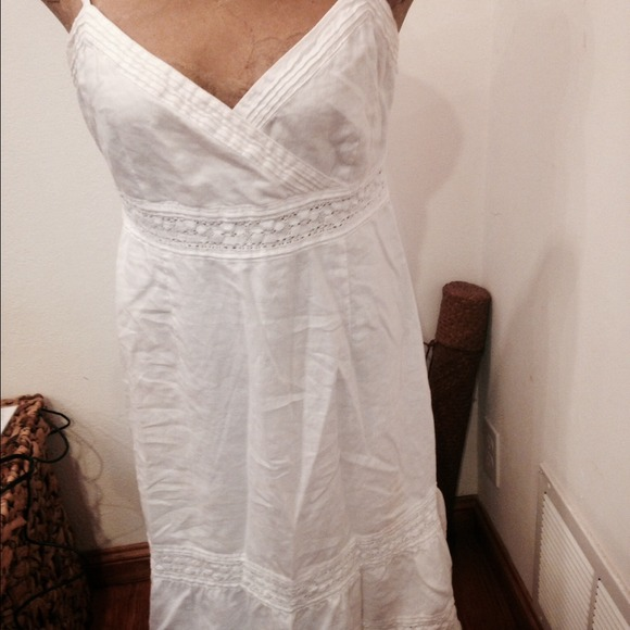 ade2053304393 Oasis Linen Dresses | White Linen Spaghetti Strap Long Dress | Poshmark