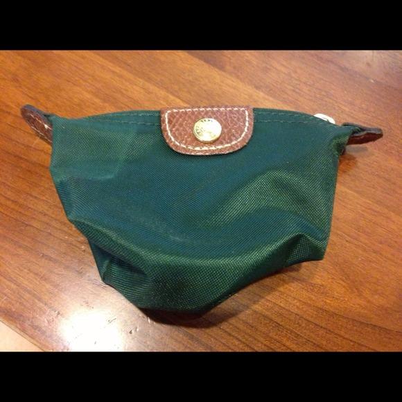 2db87504051 Longchamp Handbags - Longchamp USA green nylon pillage coin bag