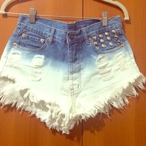 White cut up fitted shorts. Large from Ari's closet on Poshmark