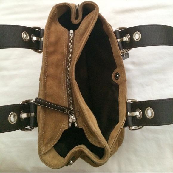 69% off Coach Handbags - Light brown suede coach purse