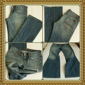 7FAM Medium Blue Wash Bootcut Jeans size 27