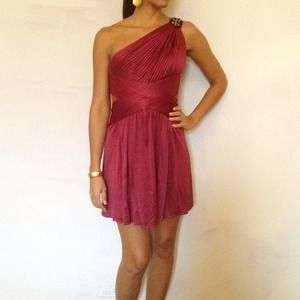 BCBG Dresses & Skirts - BCBG Cocktail Party Dress Burgundy Wine Jewel tone