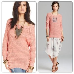 NWT Free People Pullover Sweater Star Dune Marled