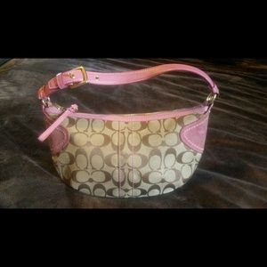 COACH handbag - beige and pink