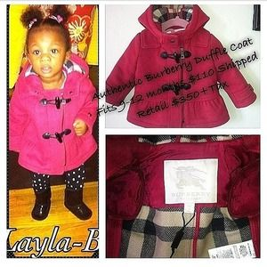 Authentic Burberry Girls Duffle Coat 9 months