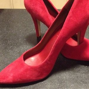 Cranberry suede shoes