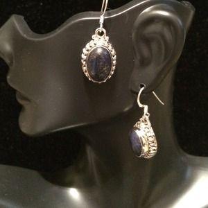 Jewelry - Deep blue goldstone earrings