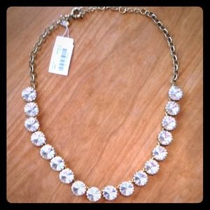 J. Crew Jewelry - J.Crew brass Plated Crystal Necklace!!