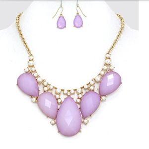 Oval Lavender Necklace