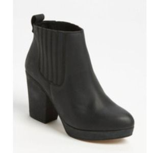 Topshop Boots - Black 'alexy' ankle booties from TopShop