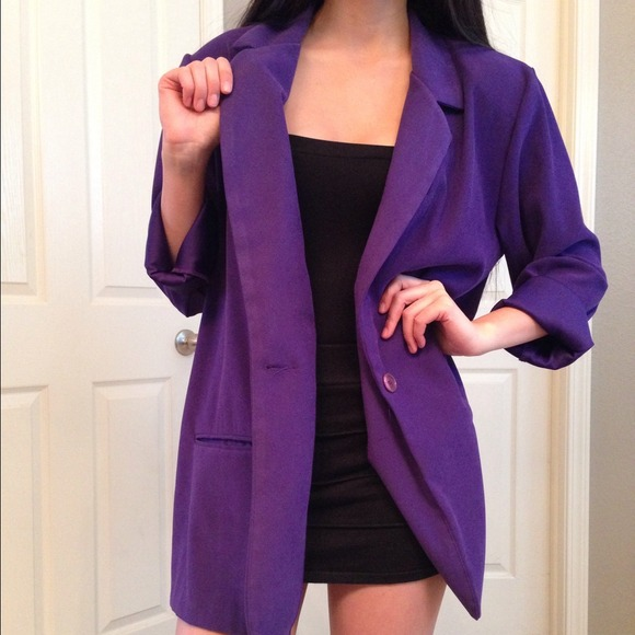 Jackets & Blazers - ❌SOLD❌Vintage Oversized Purple Blazer 2