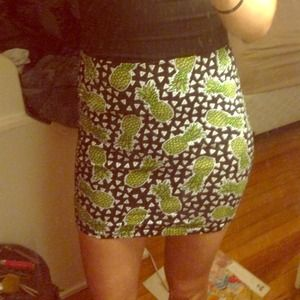 H&m pineapple skirt