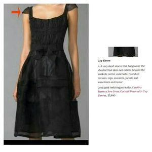 Carolina Herrera Dresses & Skirts - Black silk tulle Carolina Herrera cocktail dress