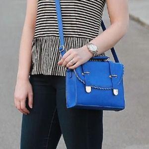 ASOS Handbags - Asos blue scalloped bag