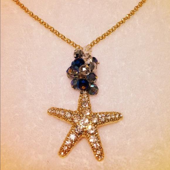 Jewelry Yellow Gold Starfish Necklace Poshmark