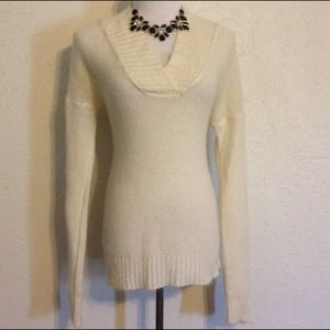 J. Crew Sweaters - J. Crew White V Neck Sweater