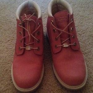 Zapatos De Las Mujeres Botas Timberland Rojos yjqIcS