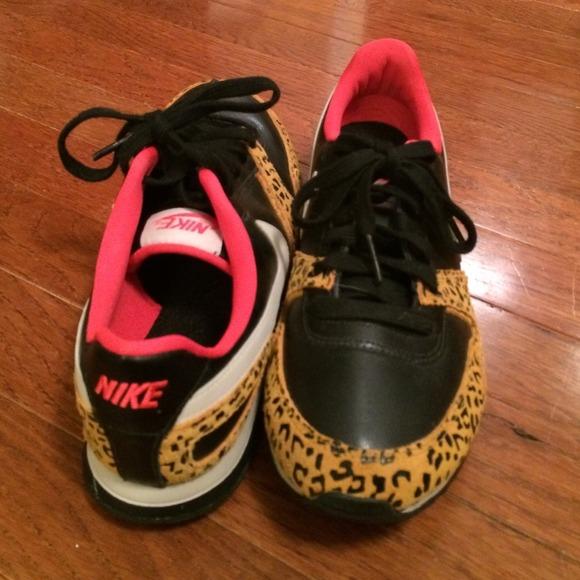 cheetah print nike tennis shoes