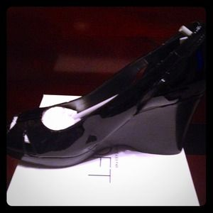 Ann Taylor Shoes - Ann Taylor Loft Patent Leather Wedges- Never Worn