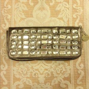 LULU  Metallic Taupe & Bling Wrist Wallet!