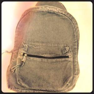 Grunge denim backpack