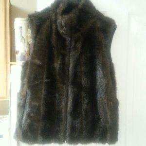 New faux fur vest