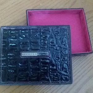 Kenneth Cole Faux Croc w Pink Accessory Box