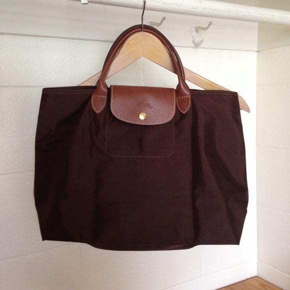 126cb3296528 Longchamp Handbags - le pliage cabas chocolate open tote