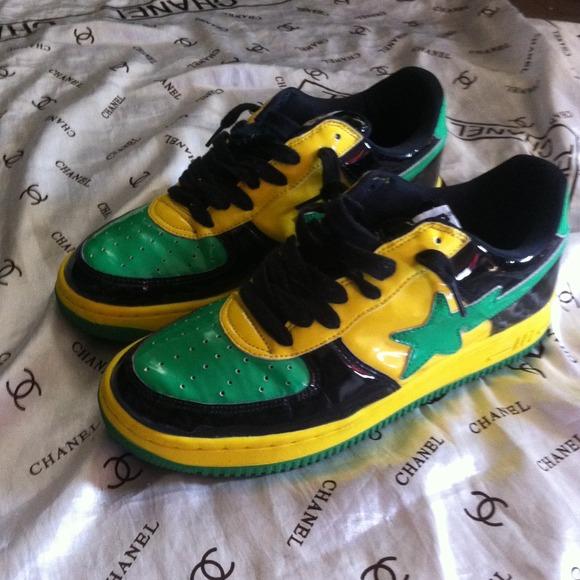 Bapesta Shoes   Bapesta Green Yellow