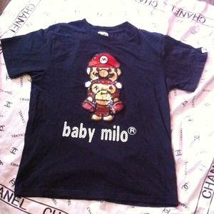 4defd353b Bape Tops | Mario Baby Milo Tee | Poshmark