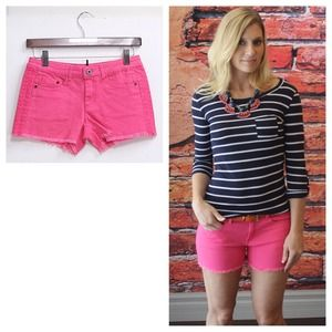 Pink cutoffs with cute side detail