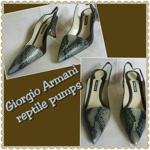Giorgio Armani Shoes - Giorgio Armani brown reptile