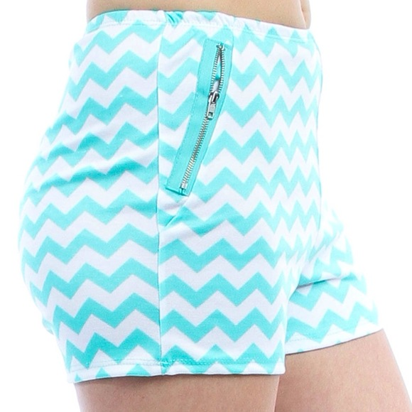 Blue Tree Boutique - ⬇️High Waisted Mint Chevron Shorts from ...